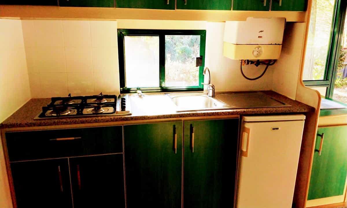 Cocina de la Mobil Home Shelbox Classic. Plot 21